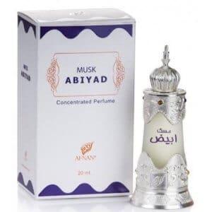 musk abiyad with box